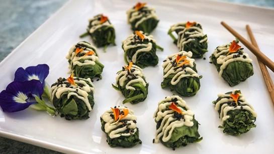 Warm Miso Spinach Salad (Raw Vegan)