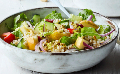 Chopped Barley Salad with Pears
