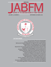 The Journal of the American Board of Family     Medicine: 26 (3)
