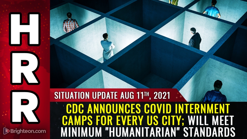 """Image: CDC announces covid internment camps for every US city; will separate families by force, claims to meet MINIMUM """"humanitarian"""" standards"""